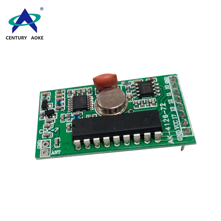 Superheterodyne receiver module with decoding AK-4126-72