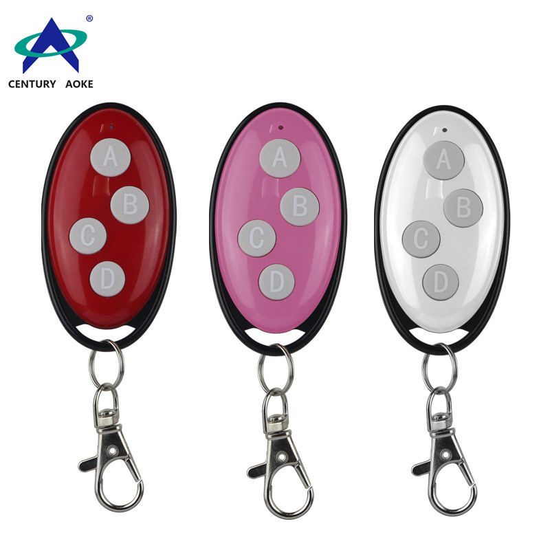 4 buttons rf wireless remote control 433mhz 315mhz learning code ev1527 for garage door,led lights