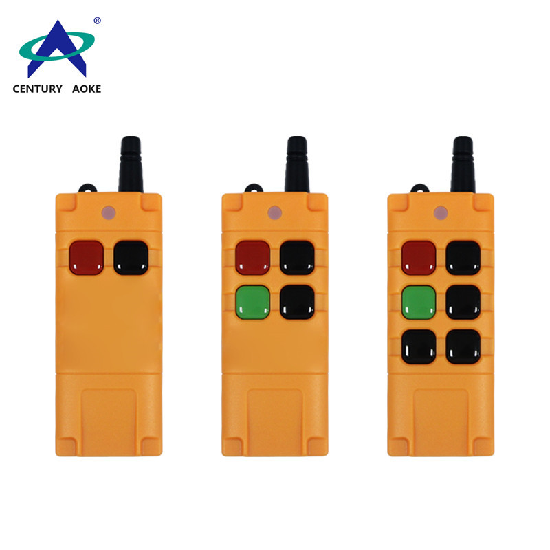 High-power 2-button 4-button 6-button waterproof and drop-proof big button  industrial remote control AK-GK06TX for lamp ,motor