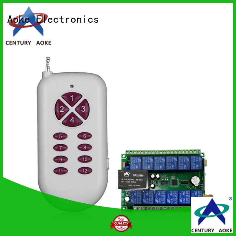 Aoke wireless remote control light switch directly sale used in electric control locks
