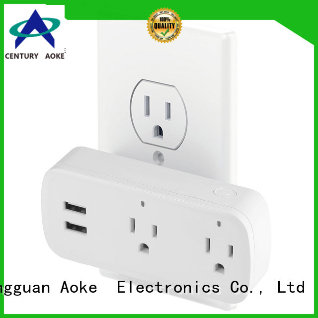 Aoke best price smart power plug manufacturer usedfor smart home security