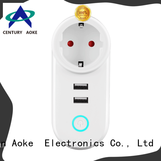 Aoke smart outlet plug from China used in electric control locks